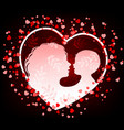 silhouette mother and bain heart vector image vector image