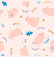 simple pig seamless pattern vector image
