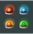 siren lamp collection icon set in 4 color vector image vector image