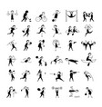sport and hobby icons set for your design vector image