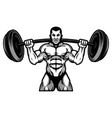 strong powerlifting and bodybuilding athlete with vector image vector image