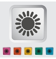 Sun single icon vector image vector image