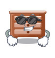 super cool bedside table is isolated the mascot vector image