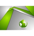 Tech corporate green grey background vector image vector image