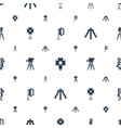 tripod icons pattern seamless white background vector image vector image
