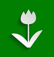 Tulip sign paper whitish icon with soft