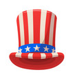 uncle sam top hat icon vector image