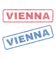 vienna textile stamps vector image vector image