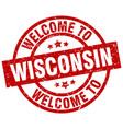 welcome to wisconsin red stamp vector image vector image