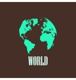 with a world map vector image vector image