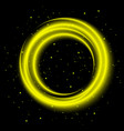 yellow light shining circle banner vector image