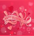 happy valentines day design card vector image
