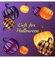 Gift for Halloween festive background vector image