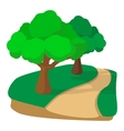 Jogging track in the park cartoon icon vector image