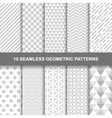 10 Seamless geometric patterns vector image