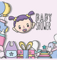 baby shower invitation to birth of a girl