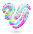 Abstract 3D heart vector image vector image