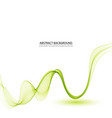 abstract background green waved lines vector image vector image