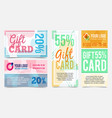 abstract geometric gift cards design templates vector image vector image