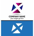Alphabetical Logo Design Concepts Letter X vector image vector image