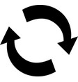 arrow recycling icon isolated flat vector image vector image