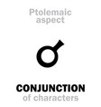 astrology conjunction aspect vector image vector image