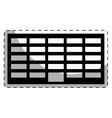 Black city office building line sticker vector image