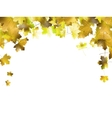 Border frame of colorful autumn leaves EPS 10 vector image vector image