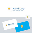 bulb logotype with business card template elegant vector image vector image