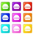burger set 9 vector image vector image