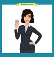 businesswoman character design vector image