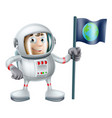 cartoon astronaut vector image
