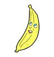 comic cartoon happy banana vector image vector image