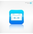 Compact Cassette icon flat design hipster style vector image vector image