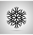 complicated snowflake simple black icon vector image vector image
