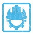 Development Helmet Icon Rubber Stamp vector image vector image