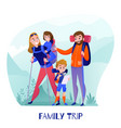 family travelers vector image