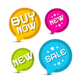 Flat Design Colorful Stickers - Labels Set with vector image vector image