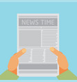 flat newspaper vector image