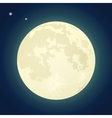 Full Moon on a Dark Blue Sky vector image vector image