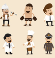 Group of People in different Occupation vector image vector image