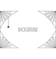 halloween background design with black spider and vector image vector image