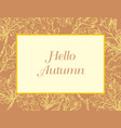 hand drawing frame 9 vector image vector image
