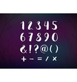 Hand Drawn Script Numbers from 0 to 9 Digits vector image vector image
