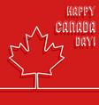 happy canada day poster vector image vector image