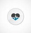 heart pulse icon 2 colored vector image vector image