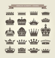 heraldic crowns set - monarchy coronet blazon vector image vector image