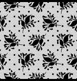 lace floral black seamless pattern vector image vector image