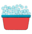 laundry pot with foam vector image vector image
