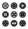 machine gear wheel cogwheel set vector image vector image